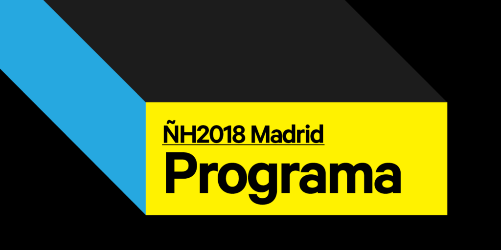 ¡Disponible el programa del Congreso ÑH2018 en Madrid!